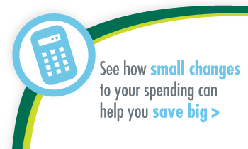See how small changes to your spending can help you save big.